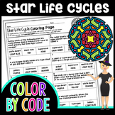 Star Life Cycles Science Color By Number or Quiz