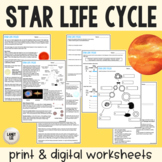 Star Life Cycles Guided Reading - PDF & Digital