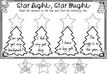 Star Light, Star Bright - A sentence matching activity