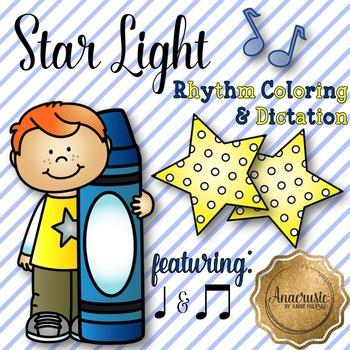 Star Light Star Bright Coloring/Dictation Page (ta & ti-ti