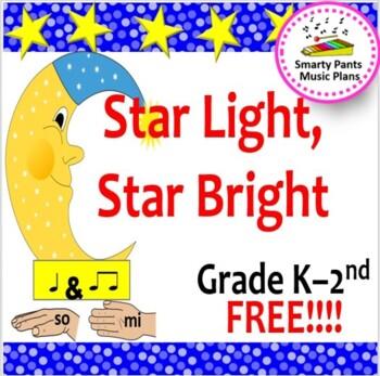 Star Light, Star Bright {Kodaly Folk Song to teach ta, ti-