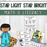 Star Light Star Bright Nursery Rhyme Literacy Math Activity Mini Unit