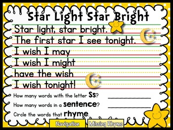 Star Light Star Bright Phonological Activities {Printable & SMARTboard}