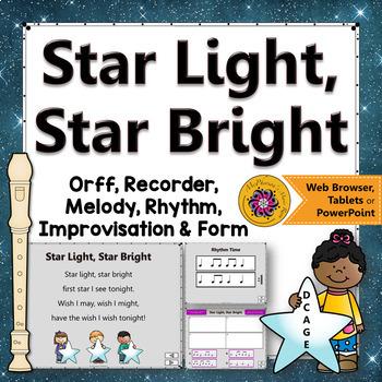 Star Light, Star Bright: Orff, Recorder, Rhythm, Melody, F
