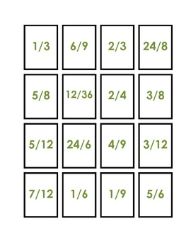 Star Line-Up Compare and Order Fractions Game/Center Common Core