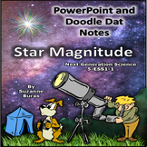 Star Magnitude PowerPoint Presentation and Doodle Dat Notes:  5-ESS1-1
