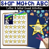 Star Match ABC Letter Matching & Star Sounds Initial Sound Matching Activities