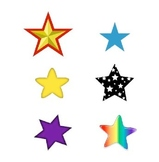 Star Match File Folder Game