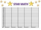 Star Math Assessment Data Sheet