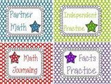 Star Math Center Signs