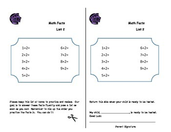 Star Math Fact Fluency