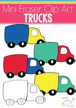 Trucks Mini Eraser Clip Art