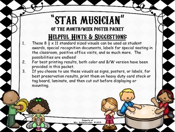 Star Musician of the Month/Week Labels, Visuals, Etc. - Color & B/W Edition