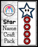 USA Activity: Star Name Craft for US Symbols, America Theme in Kindergarten
