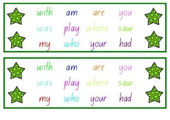 Star Name Tag Desk Strips
