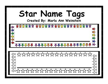 Star Name Tags