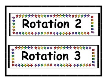 Star Number Rotations Labels