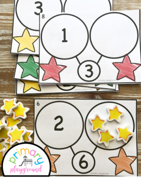 Star Number Bond Task Cards 1-10 Center