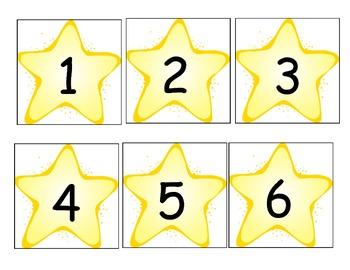 Star Number Cards/Calendar Cards