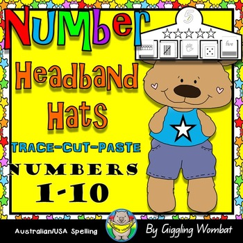 Star Number Headband Hats 1-10