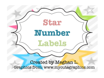 Star Number Labels