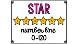 Star Number Line 0-120 Classroom Wall Decoration Border (C