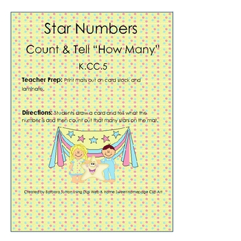 Star Numbers Common Core Math Game