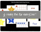 Star Numbers Matching Game with Tens Frames
