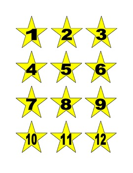 Star Numbers for Calendar or Math Activity