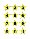Star Numbers to 100 for Calendar or Math Activity