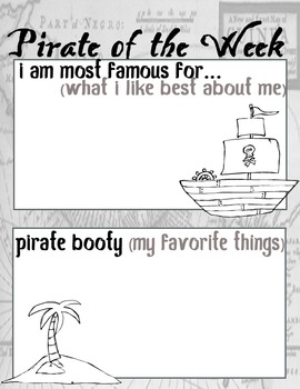 Star Of the Week (Pirate Theme)
