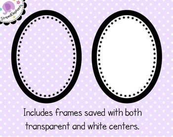 Star Oval Digital Frames
