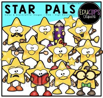Star Pals Clipart Bundle {Educlips Clipart}