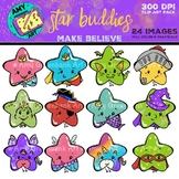 Star Buddies Clipart: Make Believe Set {Vibrant Color & Gr