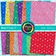 Rainbow Star Paper {Scrapbook Backgrounds for Worksheets,