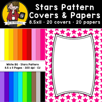 Star Pattern Covers & Papers (CU)