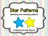 Star Patterns - Identifying and continuing patterns
