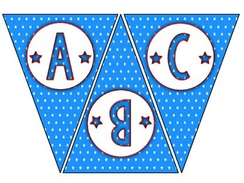 Pennant Bulletin Board Letters - Star