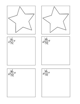 Star Post It Note Template