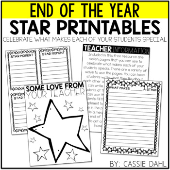 Star Printables- End of the Year