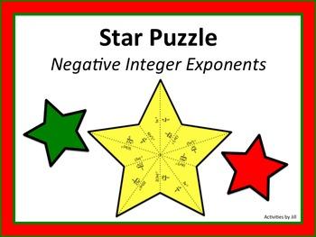 Star Puzzle: Negative Integer Exponents