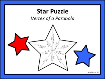 Star Puzzle: Vertex of a Parabola
