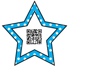 Star QR Codes (Sight Word Search)