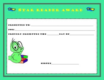 Star Reader Award Certificate