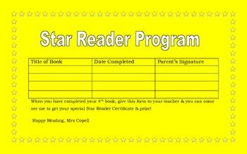 Star Reader Form