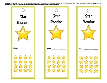 Star Reader Incentive Punch Bookmark