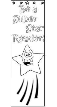 Star Reader bookmark - coloring printable!
