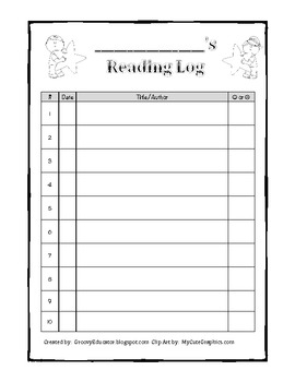 Star Reading Log