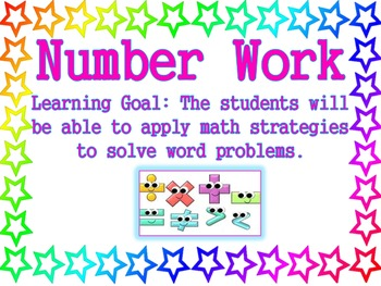 Stars Theme - Reading and Math Center Posters with Learning Goals