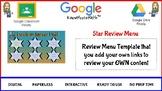 Star Review Menu Board